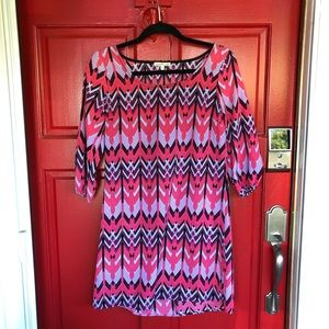 Charlotte Russe multicolored pattern Mini dress